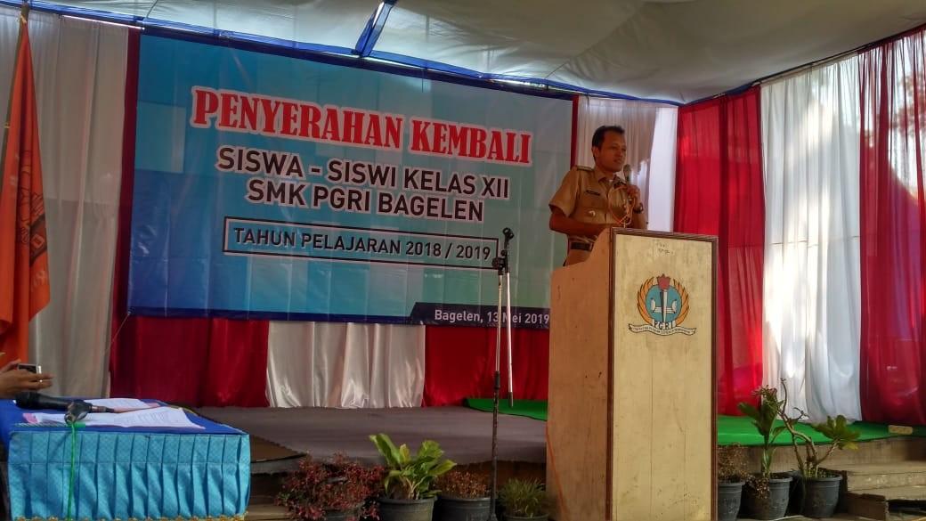 Penyerahan Kembali Siswa SMK PGRI Tahun 2019