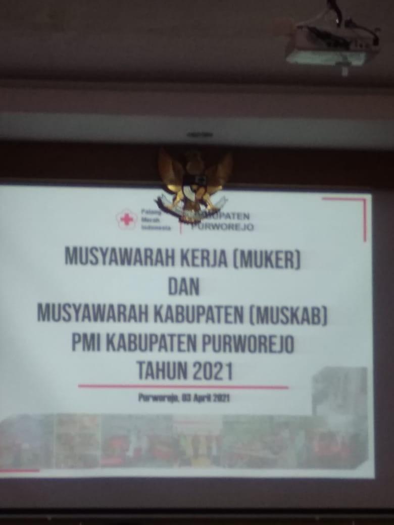Musyawarah Kerja dan Musyawarah Kabupaten oleh PMI KAB. Purworejo