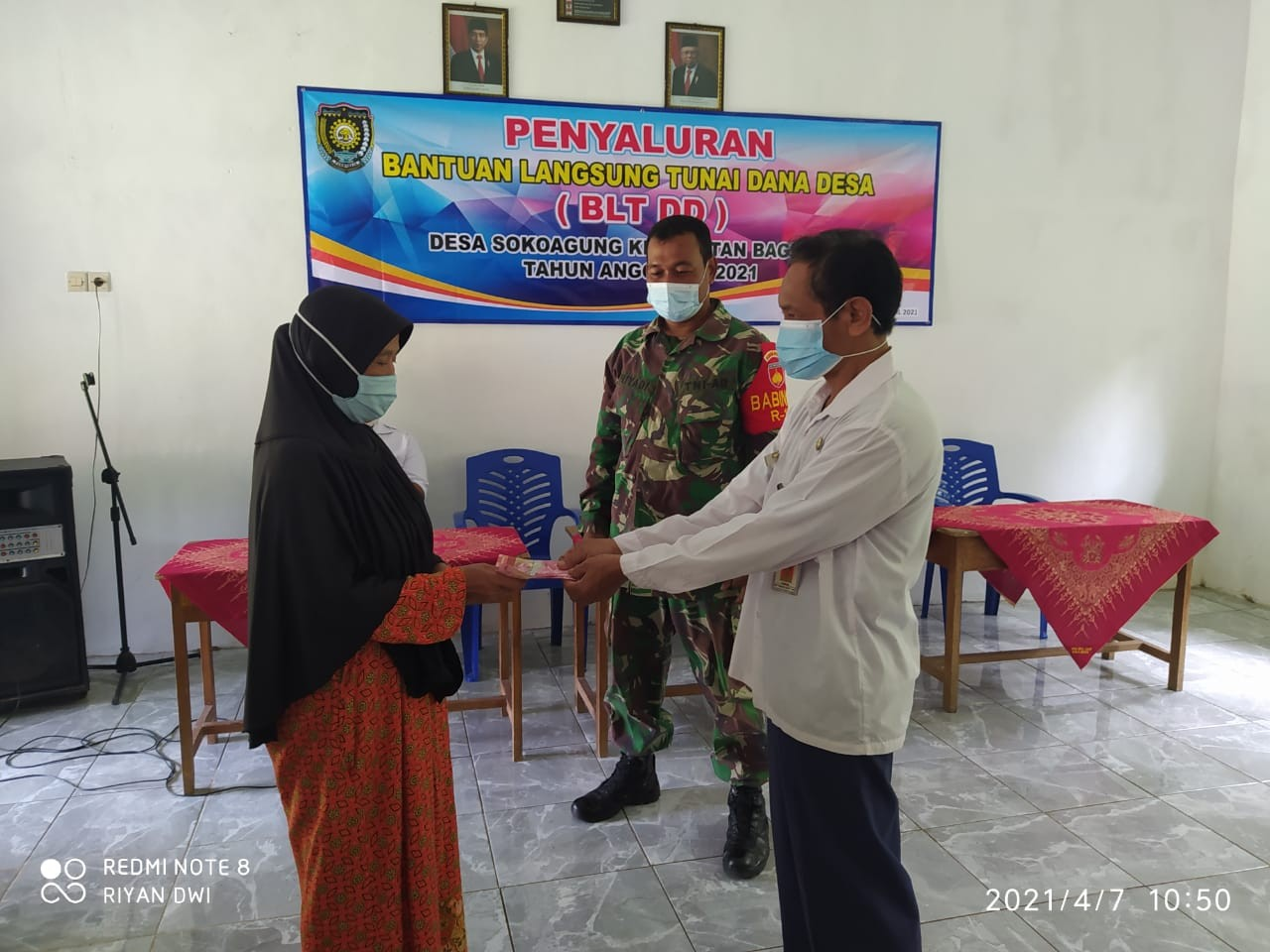Penyaluran BLT DD Desa Sokoagung